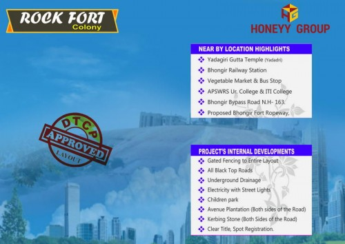 Sukhibhava Rock Fort  Colony project details - Bhongir